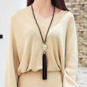 Long Tassel Necklace for Sweater